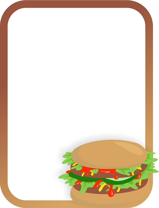 Cartoon picture of a sandwich.